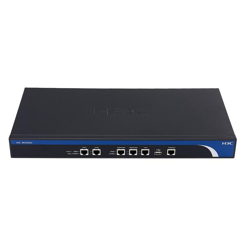 华三(H3C)ER3200G2 全千兆 企业级VPN网关路由器 多WAN口 带机量100-150