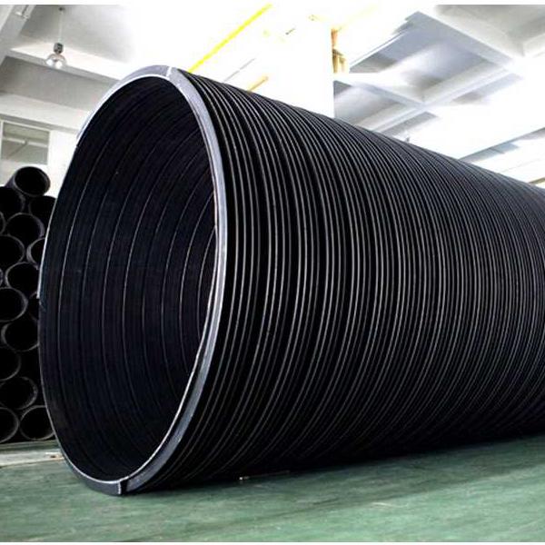 华瀚牌特大口径HDPE塑钢缠绕管 排水管 排污管 过路箱涵 管业先锋 正品保证