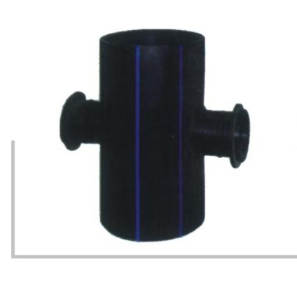 带法兰头片对接热熔对接鞍型四通 聚乙烯PE给水管热熔对接管件系列 华瀚管道 管业先锋