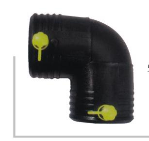 电熔90度弯头 φ25-200 华瀚PE燃气管电熔管件系列