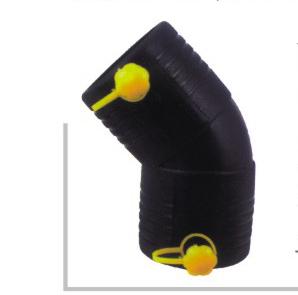 电熔45度弯头 φ50-110 华瀚PE燃气管电熔管件系列