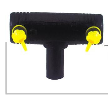 电熔异径三通 φ25-160 华瀚PE燃气管电熔管件系列