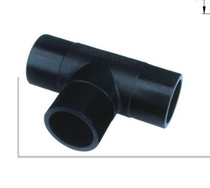 注塑等径三通 dn50-dn500 华瀚PE聚乙烯燃气管热熔对接管件系列(注塑)