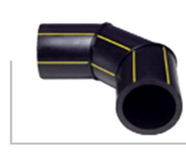 90度焊制弯头 华瀚PE聚乙烯燃气管热熔对接管件系列