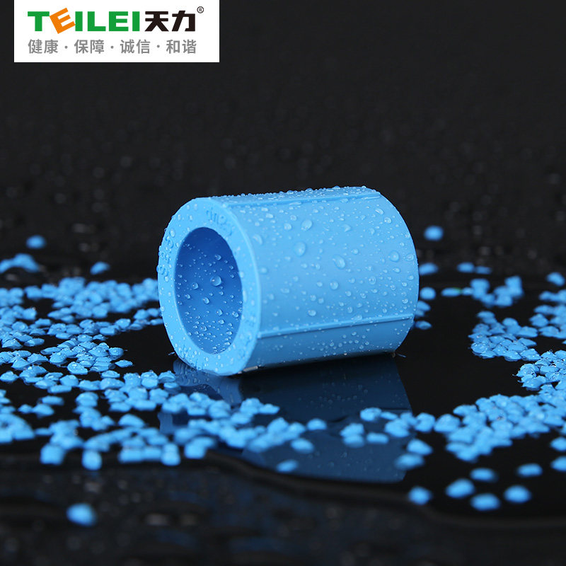 天力 PPR水管管材配件蓝色直接套管束接接头dn20 dn25 dn32