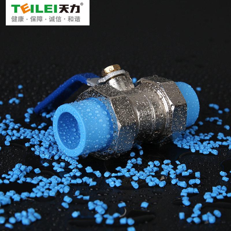 天力 全铜PPR球阀水阀4分 6分水管配件热熔双承活接球阀dn20 25 32