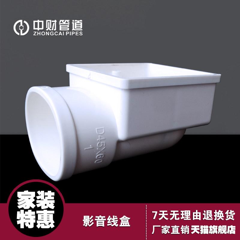 中财 PVCU线管家装影音线盒浅开槽椭圆管方形45X60 高61.3mm