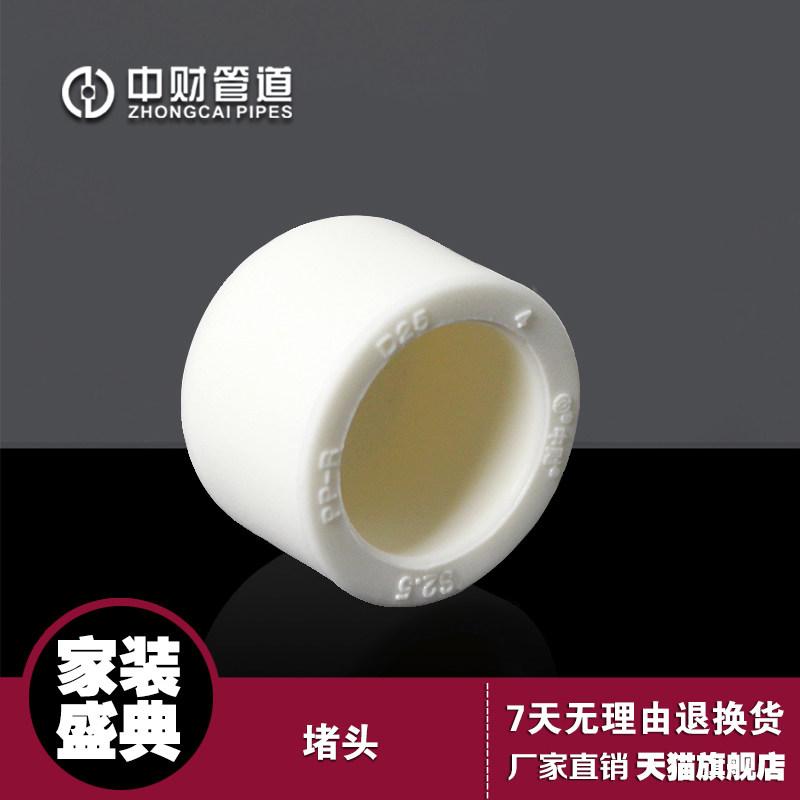 中财 PPR家装冷热水配件4分206分25塑料管堵头管塞水管闷头
