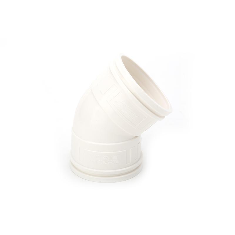 世丰 PVC 坚壁管 45°弯头 白色 D160