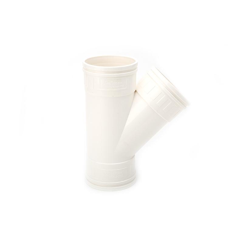 世丰 PVC 坚壁管 斜三通 白色