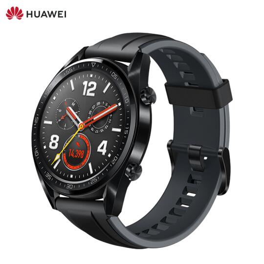华为(HUAWEI)WATCH GT运动版 黑色 华为手表