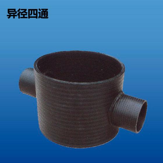 深塑牌 异径四通 HDPE高密度聚乙烯中空壁缠绕管 规格 250mm~900mm