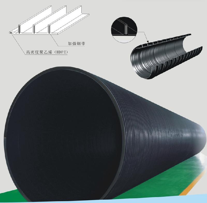 HDPE聚乙烯塑钢缠绕管 工业园道路排水排污管 道路公路排水管