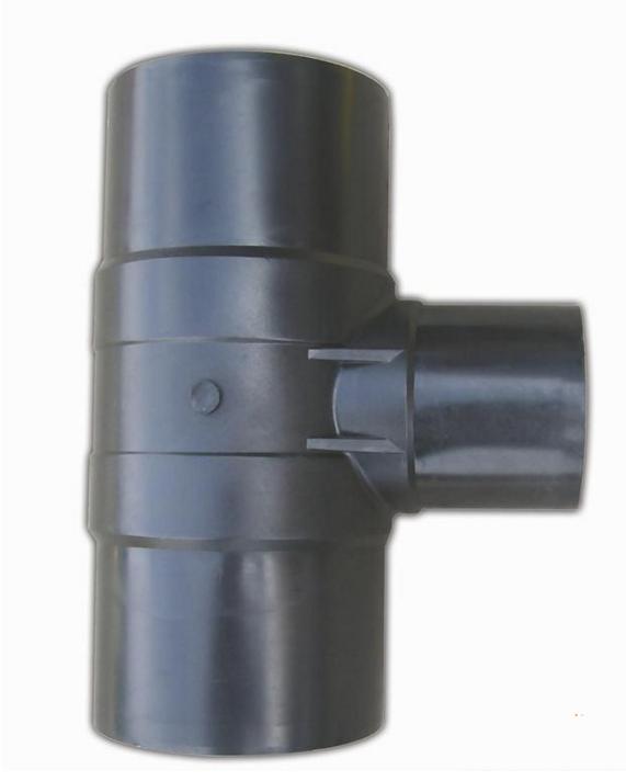 注塑对接异径三通 PE穿线管PE管材管件 PE给水管配件